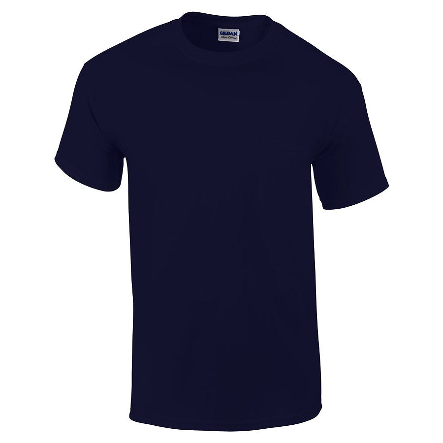 Product image of Navy Gildan 2300 - Adult Ultra Cotton T-Shirt with Pocket