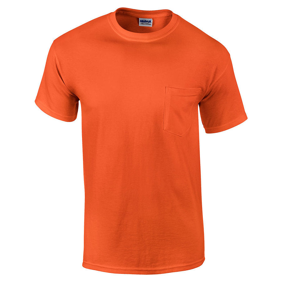Product image of Orange Gildan 2300 - Adult Ultra Cotton® Pocketed T-Shirt