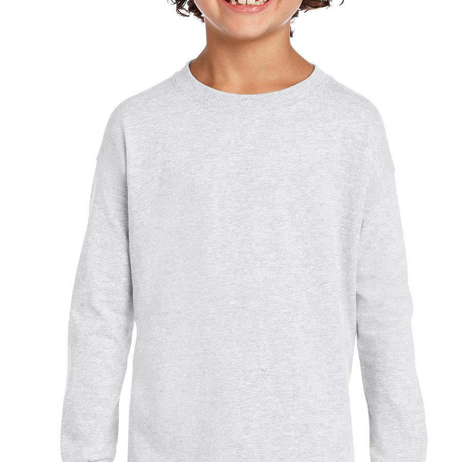 Product image of Ash Grey Gildan 2400B - Ultra Cotton Youth Long Sleeve T-Shirt