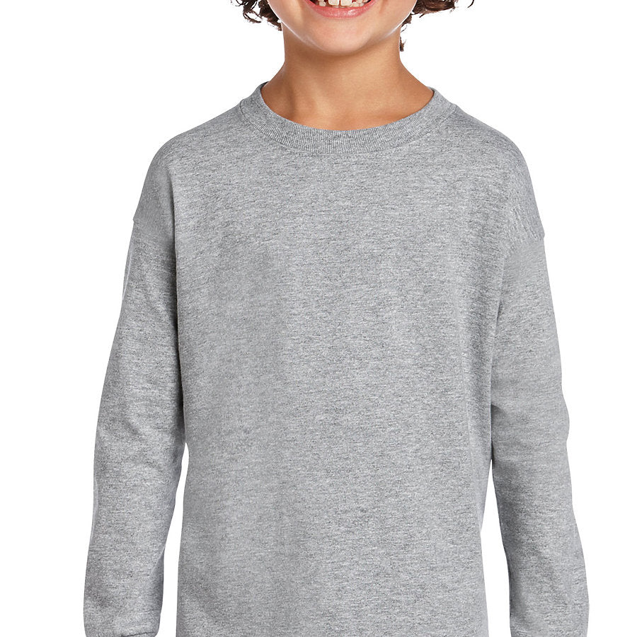 Product image of Sport Grey Gildan 2400B - Ultra Cotton Youth Long Sleeve T-Shirt