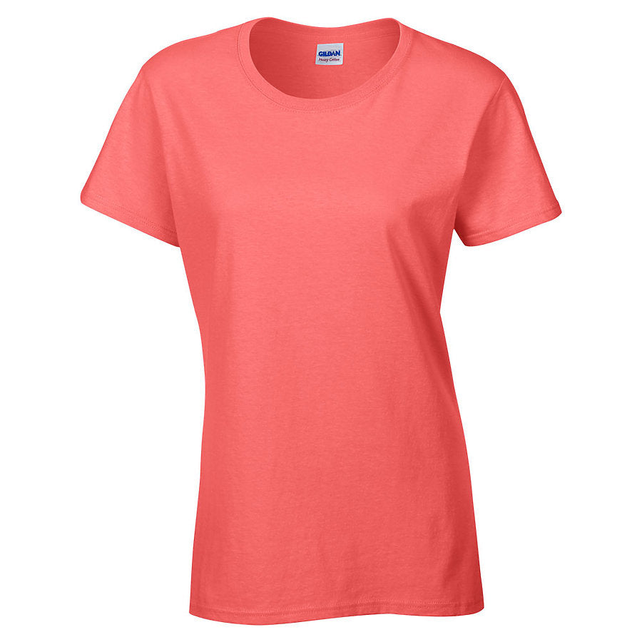 Product image of Coral Silk Gildan 5000L - Ladies' Heavy Cotton T-Shirt