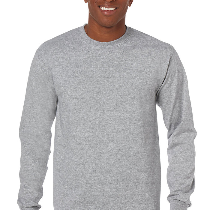 Product image of Sport Grey Gildan 5400 - Adult Heavy Cotton Long Sleeve T-Shirt