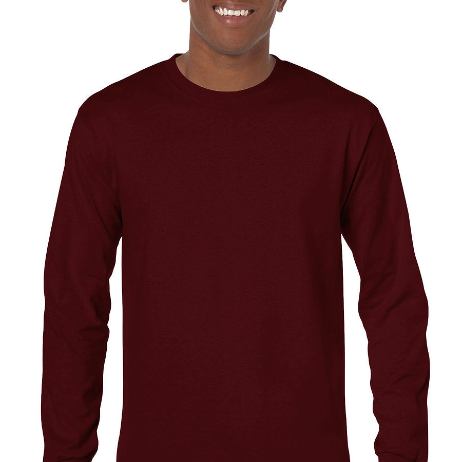 Product image of Maroon Gildan 5400 - Adult Heavy Cotton Long Sleeve T-Shirt