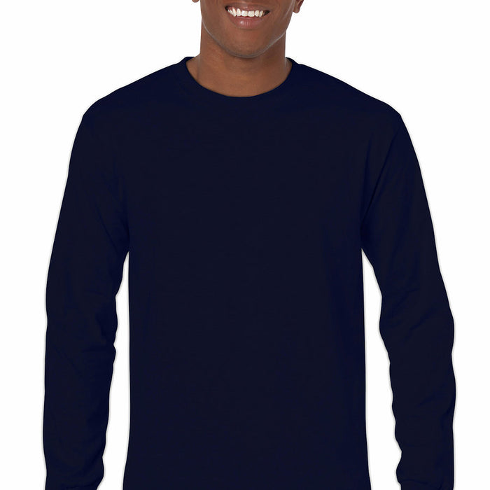 Product image of Navy Gildan 5400 - Adult Heavy Cotton Long Sleeve T-Shirt
