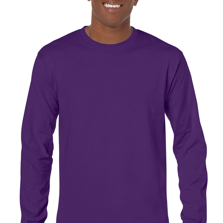 Product image of Purple Gildan 5400 - Adult Heavy Cotton Long Sleeve T-Shirt