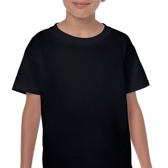 Product image of Black Gildan 5000B - Youth Cotton T-Shirt