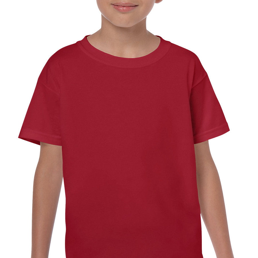 Product image of Cardinal Red Gildan 5000B - Youth Cotton T-Shirt