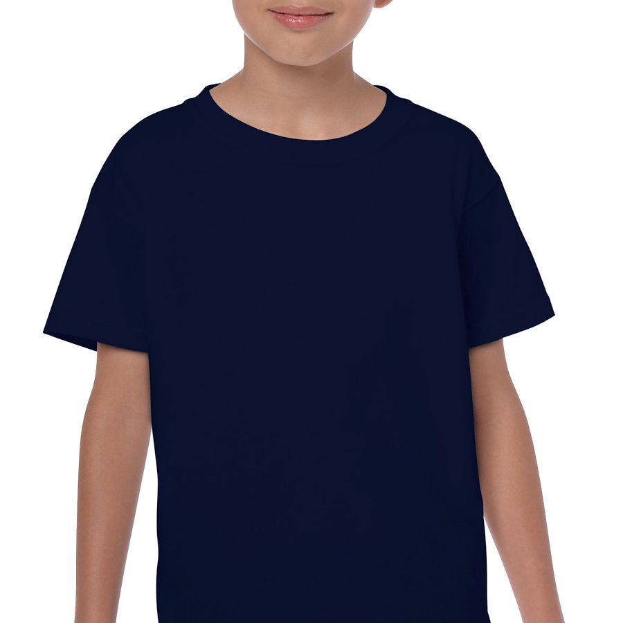 Product image of Navy Gildan 5000B - Youth Cotton T-Shirt