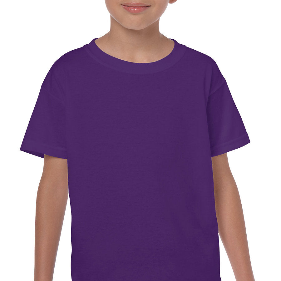 Product image of Purple Gildan 5000B - Youth Cotton T-Shirt
