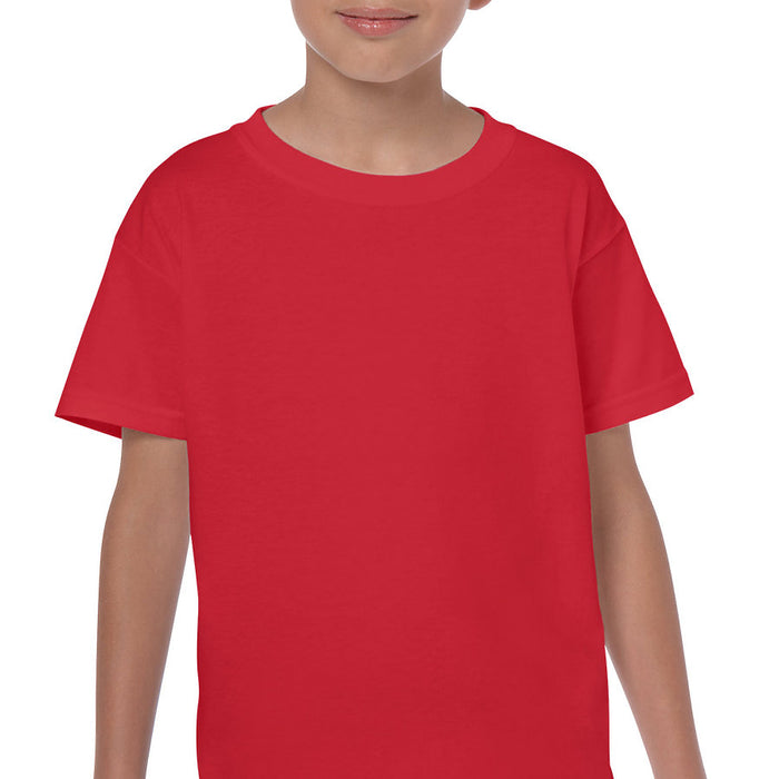 Product image of Red Gildan 5000B - Youth Cotton T-Shirt