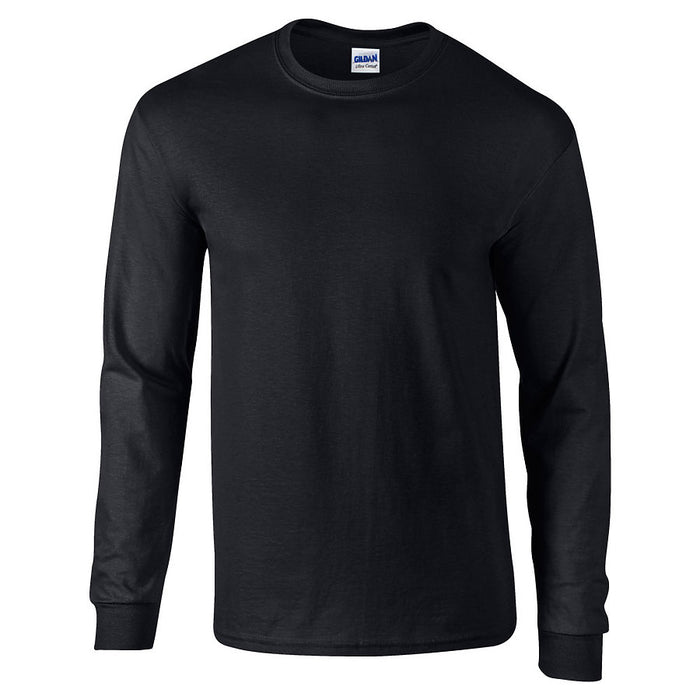Product image of Black Gildan 2400 - Adult Ultra Cotton® Long Sleeve T-Shirt