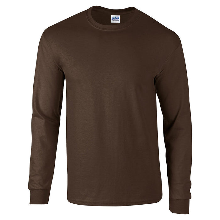 Product image of Dark Chocolate Gildan 2400 - Adult Ultra Cotton® Long Sleeve T-Shirt