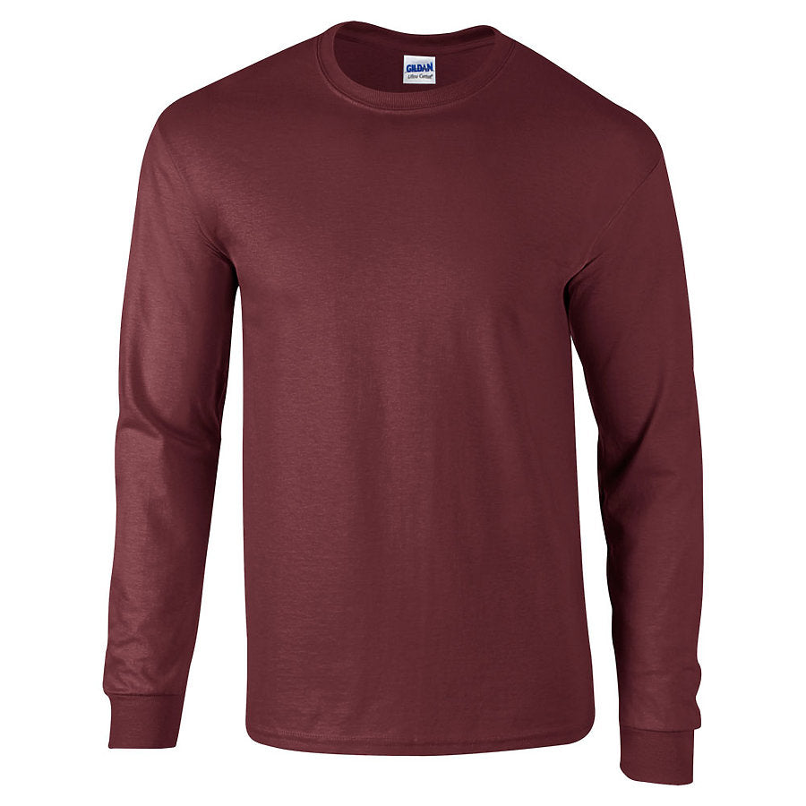 Product image of Maroon Gildan 2400 - Adult Ultra Cotton® Long Sleeve T-Shirt