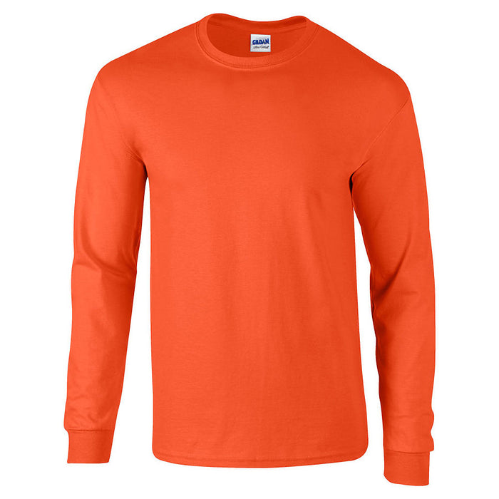 Product image of Orange Gildan 2400 - Adult Ultra Cotton® Long Sleeve T-Shirt