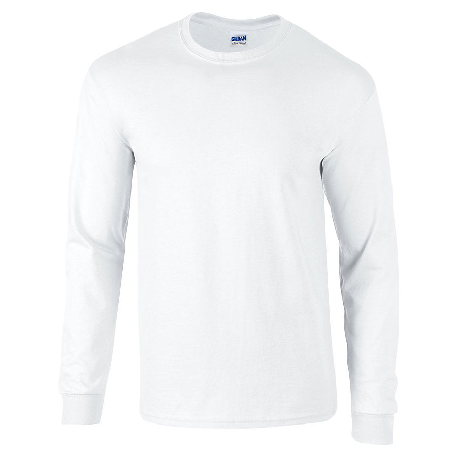 Product image of White Gildan 2400 - Adult Ultra Cotton® Long Sleeve T-Shirt