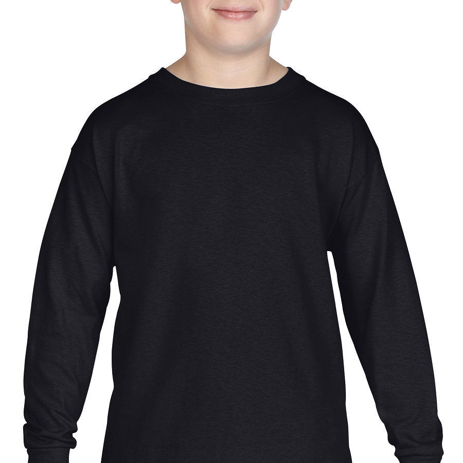 Product image of Black Gildan 5400B - Heavy Cotton Youth Long Sleeve T-Shirt