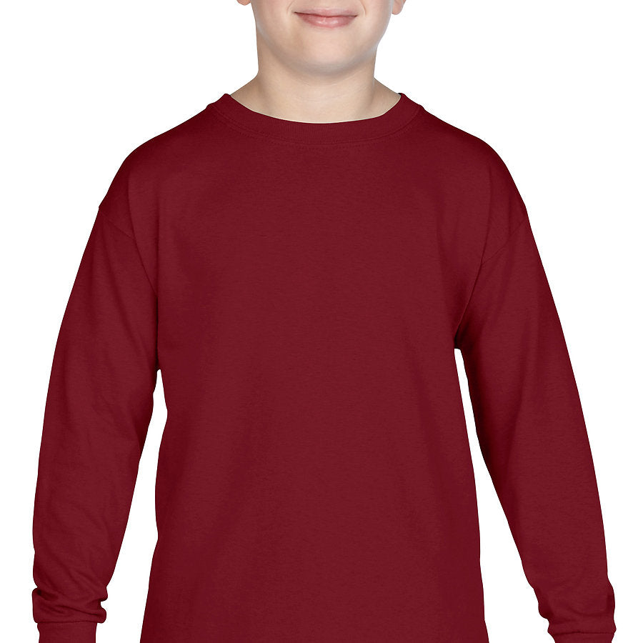 Product image of Garnet Gildan 5400B - Heavy Cotton Youth Long Sleeve T-Shirt