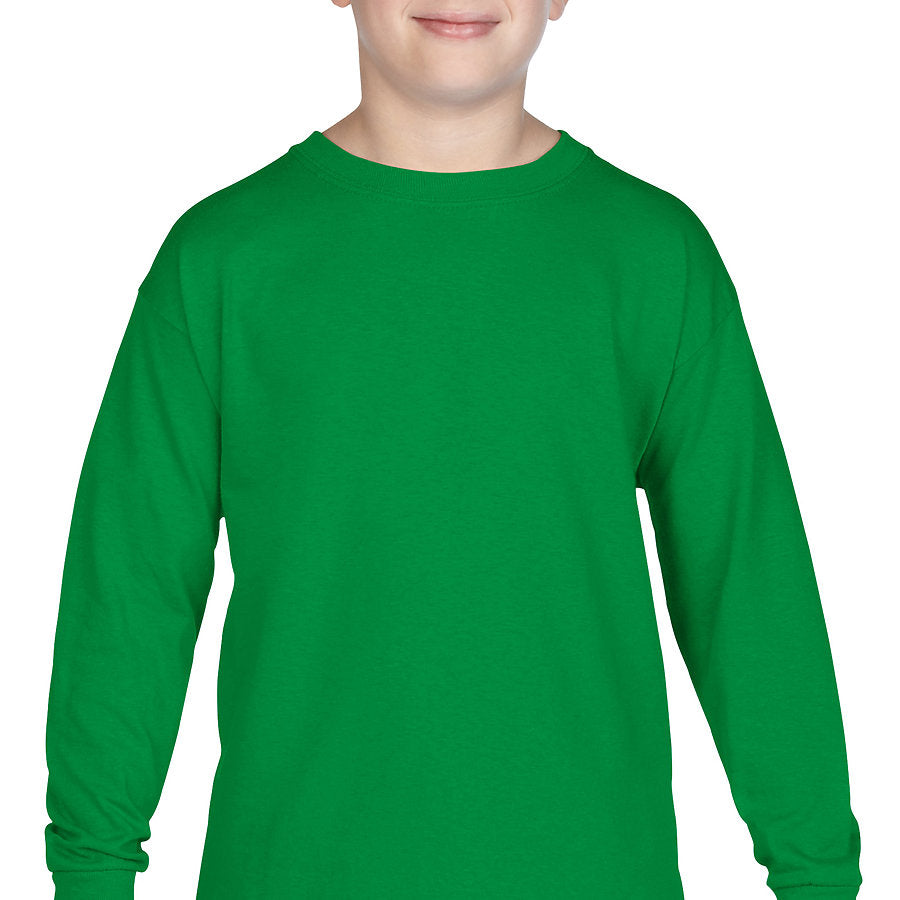 Product image of Irish Green Gildan 5400B - Heavy Cotton Youth Long Sleeve T-Shirt