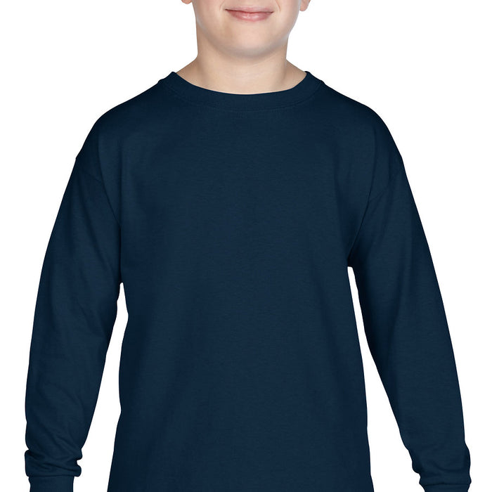 Product image of Navy Gildan 5400B - Youth Heavy Cotton Long Sleeve T-Shirt