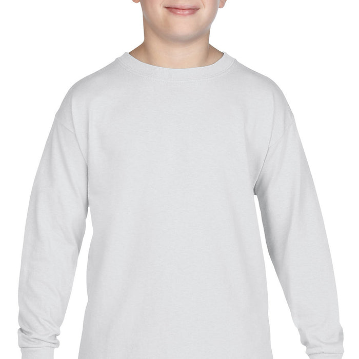 Product image of White Gildan 5400B - Heavy Cotton Youth Long Sleeve T-Shirt