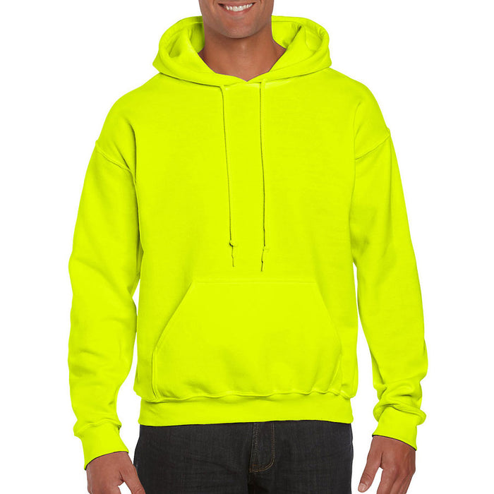 Product image of Safety Green Gildan 12500 - DryBlend Adult Hooded Sweatshirt