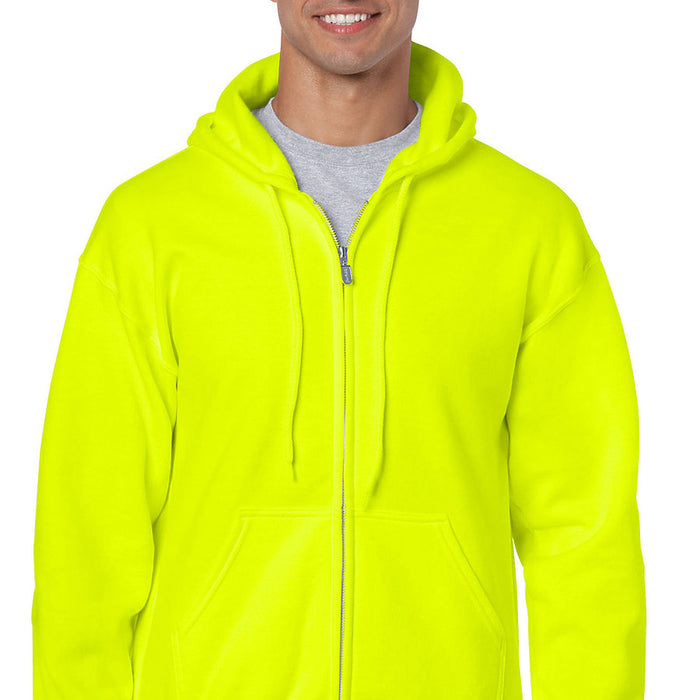 Product image of Safety Green Gildan 18600 - Heavy Blend Adult Full Zip Hooded Sweatshirt
