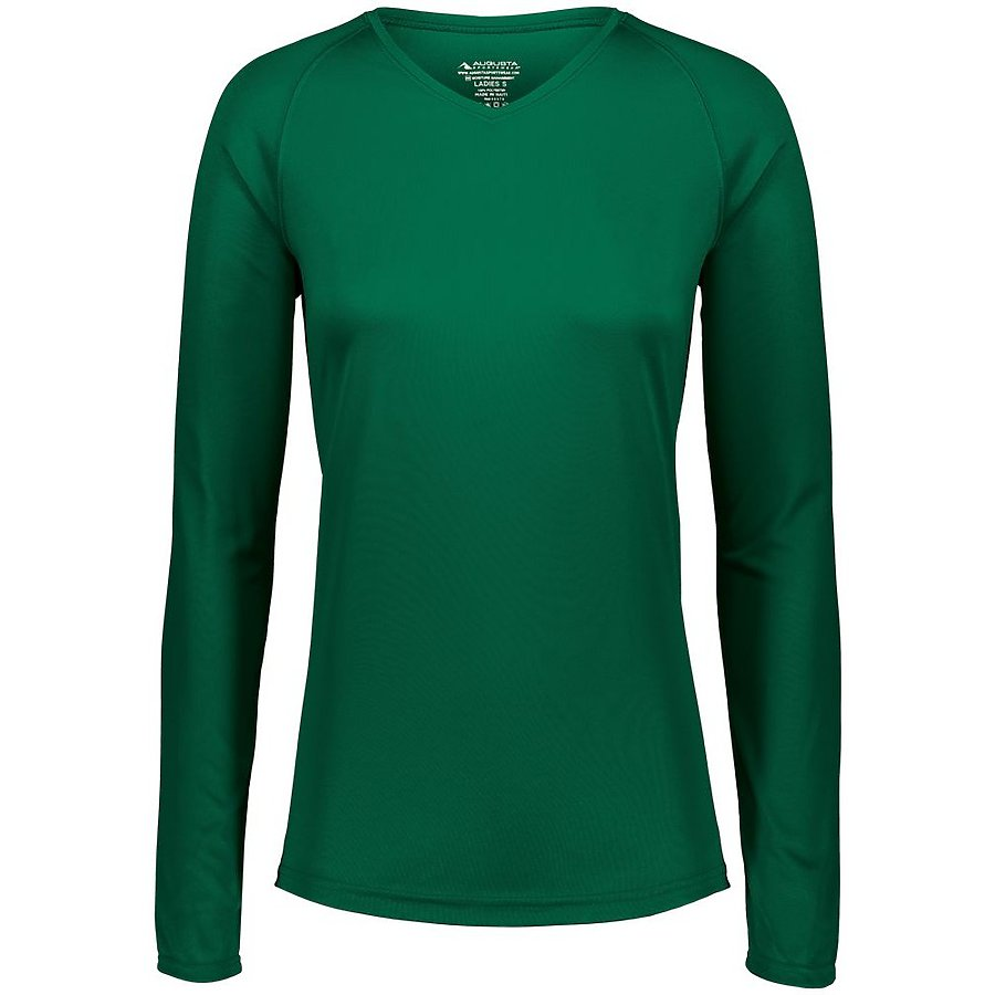 Product image of D.GREEN Augusta 2797 - LADIES ATTAIN WICKING LS SHIRT