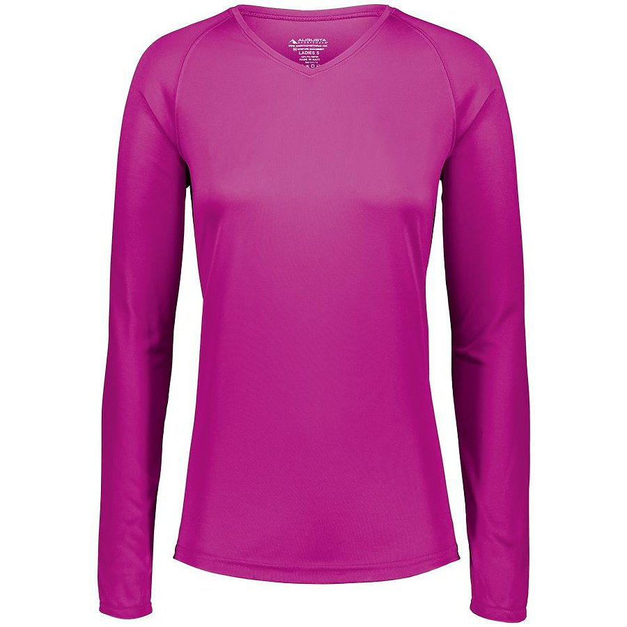 Product image of POWPK Augusta 2797 - LADIES ATTAIN WICKING LS SHIRT