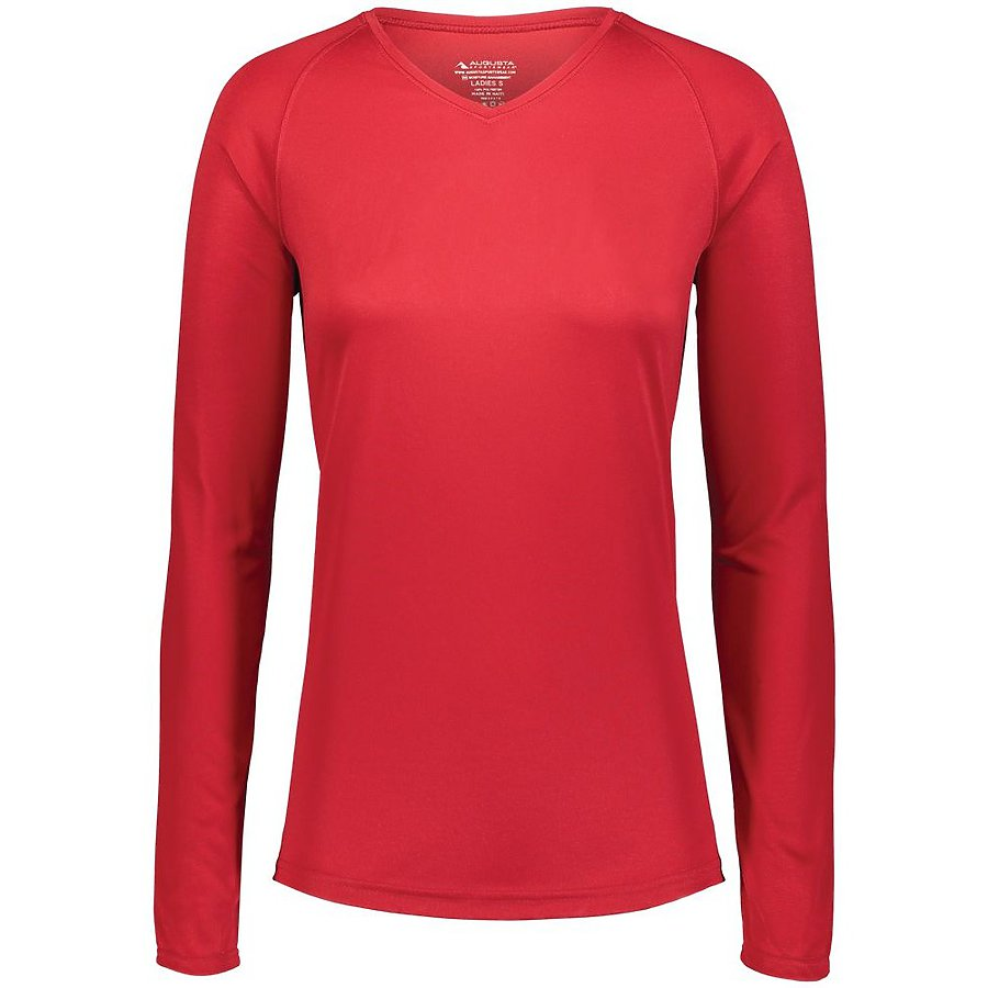 Product image of RED Augusta 2797 - LADIES ATTAIN WICKING LS SHIRT