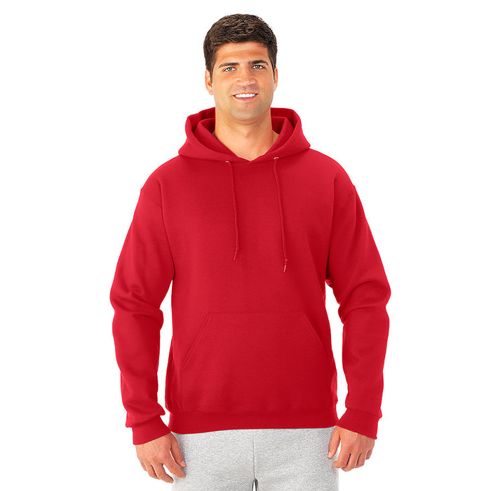 Product image of True Red JERZEES 4997MR - Super Sweats NuBlend Hooded Sweatshirt