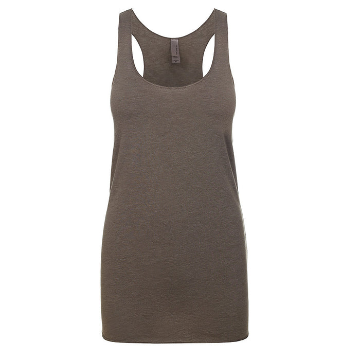 Product image of Venetian Gray Next Level Apparel 6733 - Tri Racerback Tank