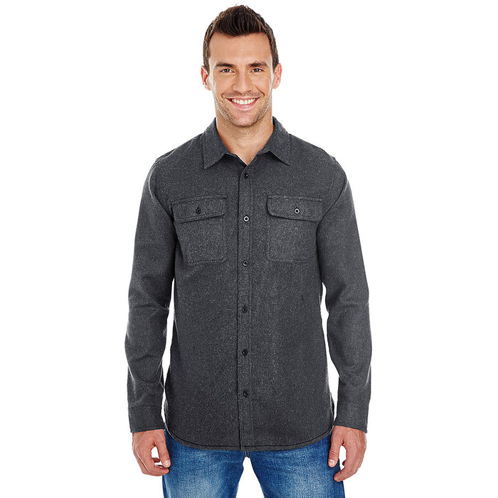 Product image of Charcoal Burnside Mens B8200 - Solid Flannel Shirt