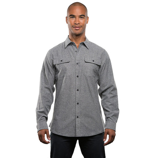 Product image of Heather Grey Burnside Mens B8200 - Solid Flannel Shirt