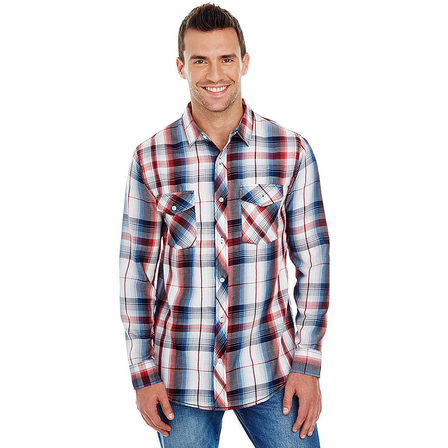 Product image of Red Burnside B8202 - Men's Plaid Shirt