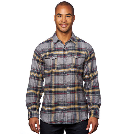 Product image of Light Grey Burnside B8219 - Men's Snap Button Flannel
