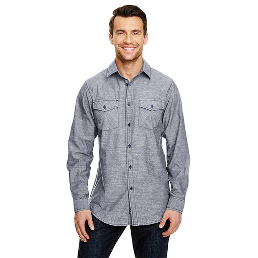 Product image of Dark Denim Burnside B8255 -Mens L/S Chambray Shirt