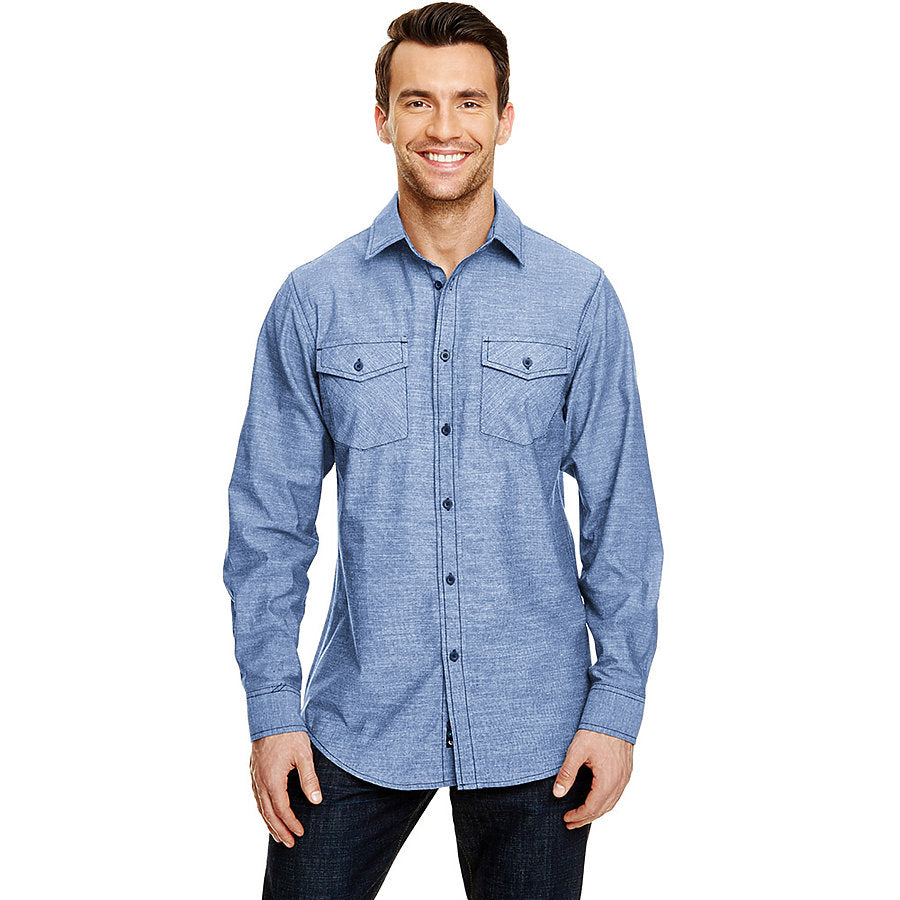 Product image of Light Denim Burnside B8255 -Mens L/S Chambray Shirt