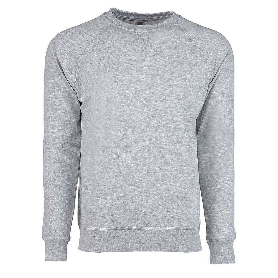 Product image of Heather Gray Next Level Apparel 9000 - French Terry Crew