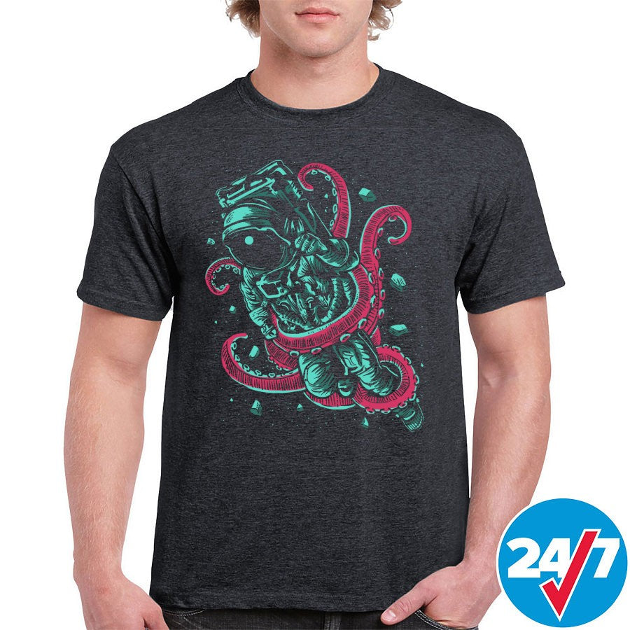 Astronaut Octopus Graphic Tee