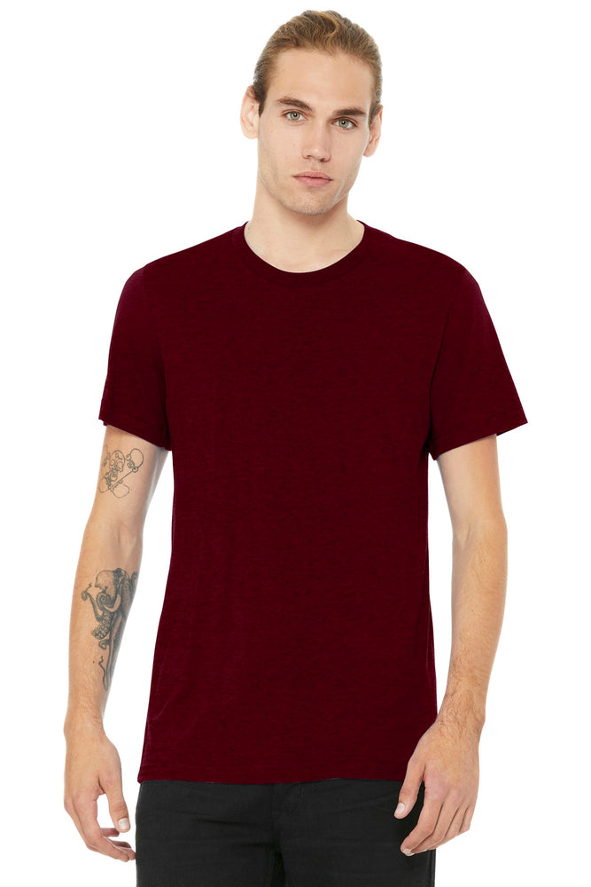 BELLA+CANVAS ® Unisex Heather CVC Short Sleeve Tee. BC3001CVC (Heather Cardinal)