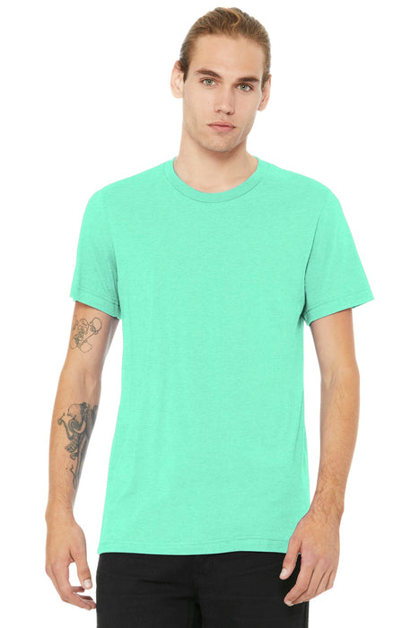 BELLA+CANVAS ® Unisex Heather CVC Short Sleeve Tee. BC3001CVC (Heather Mint)