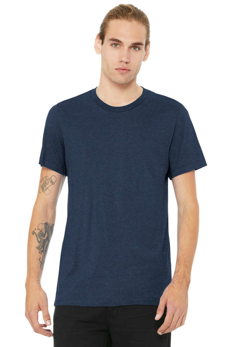BELLA+CANVAS ® Unisex Heather CVC Short Sleeve Tee. BC3001CVC (Heather Navy)