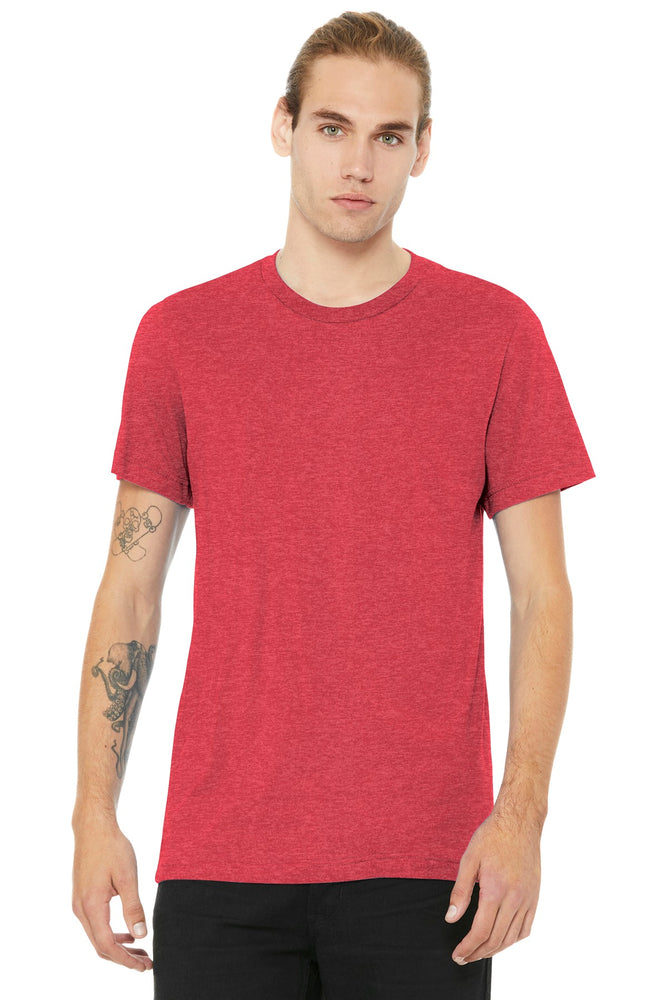 BELLA+CANVAS ® Unisex Heather CVC Short Sleeve Tee. BC3001CVC (Heather Red)