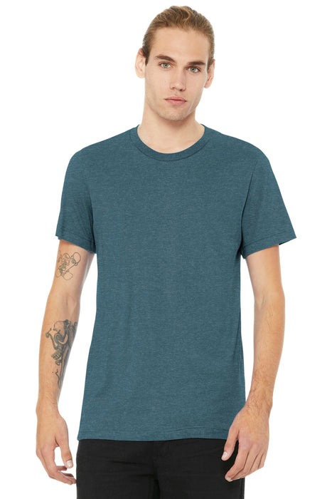 BELLA+CANVAS ® Unisex Heather CVC Short Sleeve Tee. BC3001CVC (Heather Slate)