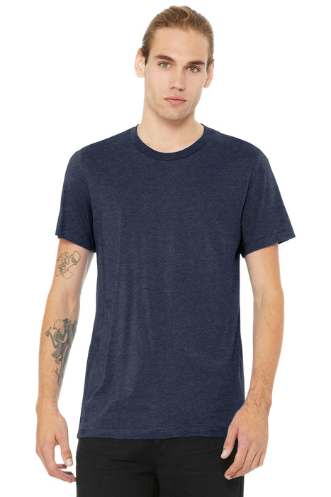 BELLA+CANVAS ® Unisex Heather CVC Short Sleeve Tee. BC3001CVC (Heather Midnight Navy)