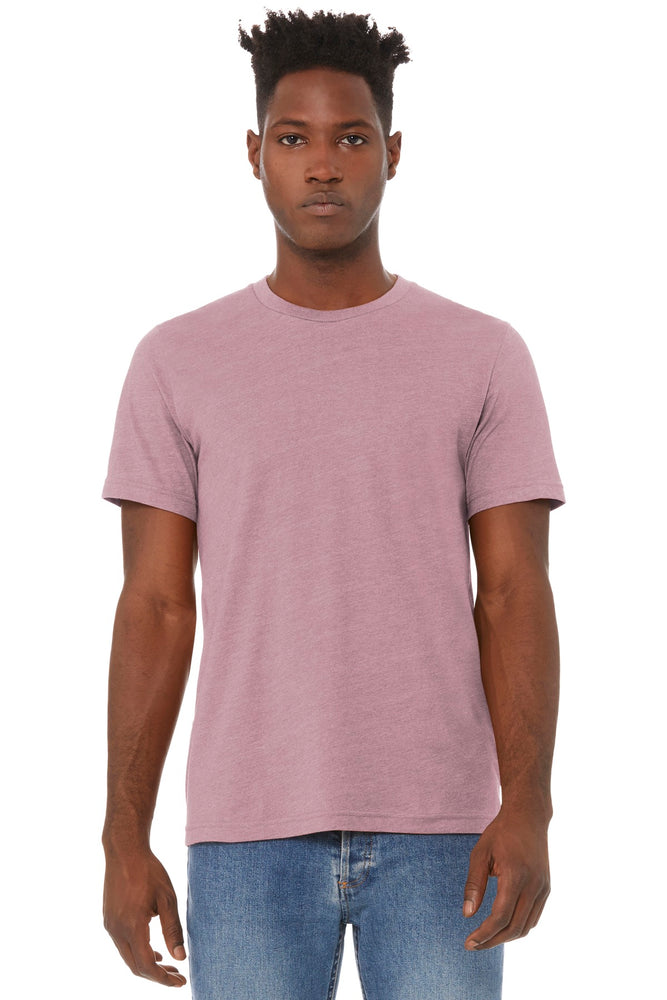 BELLA+CANVAS ® Unisex Heather CVC Short Sleeve Tee. BC3001CVC (Heather Orchid)