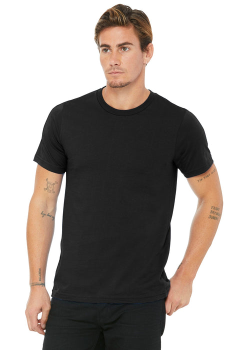 BELLA+CANVAS ® Unisex Made In The USA Jersey Short Sleeve Tee. BC3001U (Black)