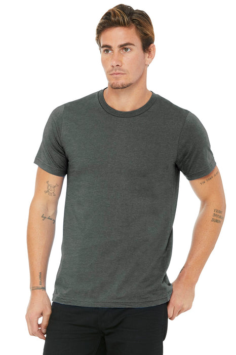 BELLA+CANVAS ® Unisex Made In The USA Jersey Short Sleeve Tee. BC3001U (Deep Heather)