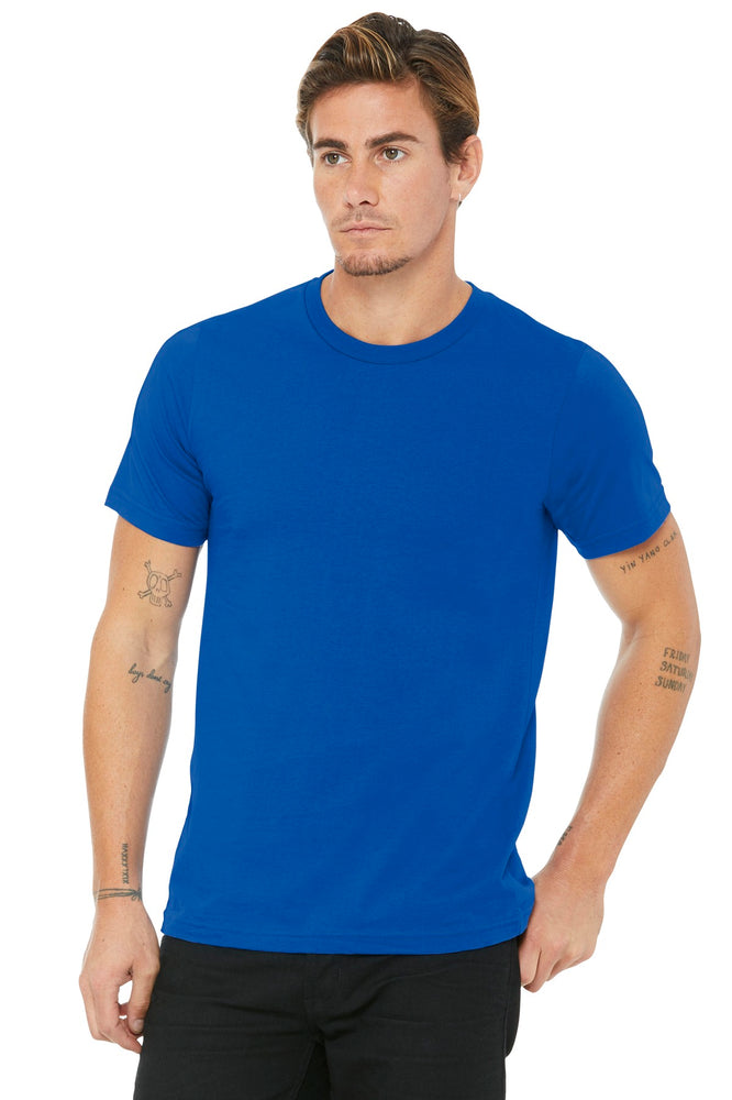 BELLA+CANVAS ® Unisex Made In The USA Jersey Short Sleeve Tee. BC3001U (True Royal)