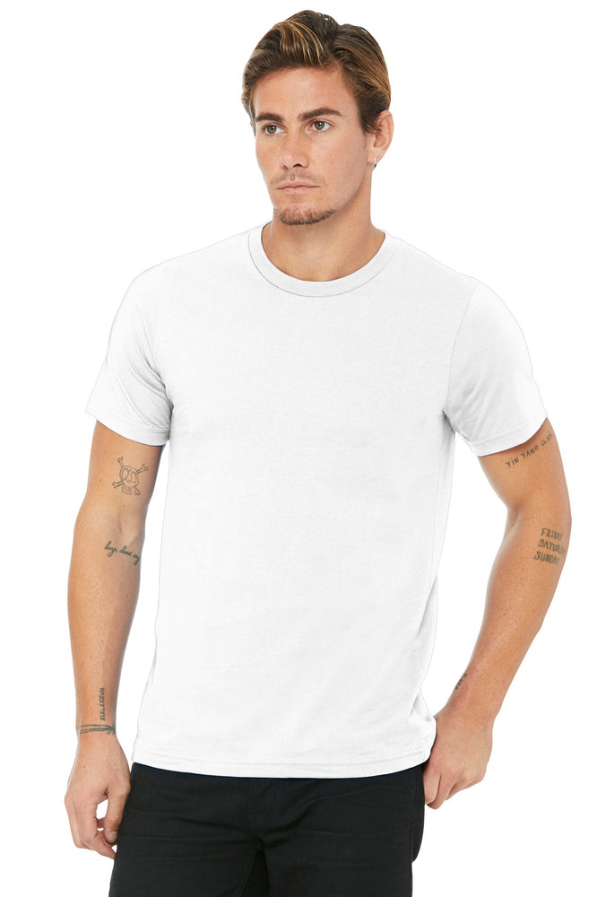 BELLA+CANVAS ® Unisex Made In The USA Jersey Short Sleeve Tee. BC3001U (White)